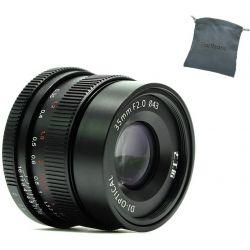 Obiettivo 7Artisans 35mm F2.0 Manual Focus nero attacco Sony E-Mount (A201B)