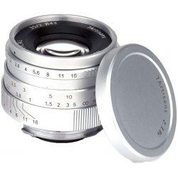 Obiettivo 7Artisans 35mm F2.0 Manual Focus silver compatibile mirrorless Leica M (A901S)