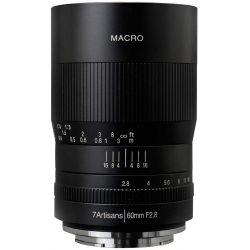 Obiettivo 7Artisans 60mm F2.8 Macro nero per mirrorless Sony E-Mount (A112-E)