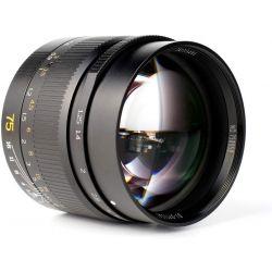 Obiettivo 7Artisans 75mm F1.25 nero per fotocamere Leica M (A113B)