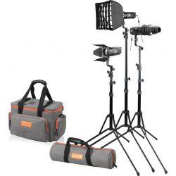 Godox SA-D S30 kit 3x faretto S30 + 3x stativi + 1x lente 85mm + accessori