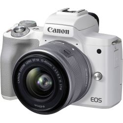 Fotocamera Mirrorless Canon EOS M50 Mark II kit 15-45mm IS STM Bianco