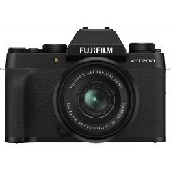 Fotocamera Mirrorless Fujifilm X-T200 Kit 15-45mm Nero