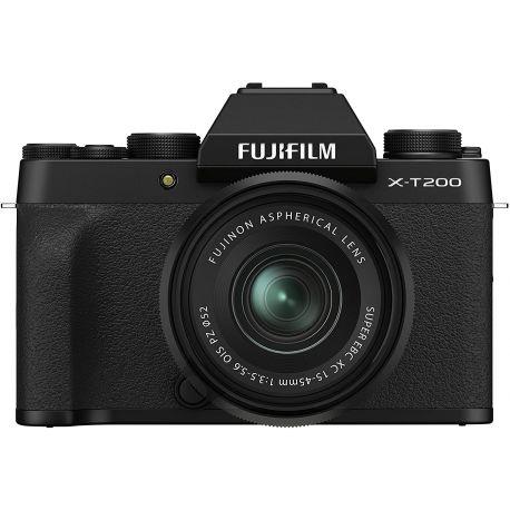 Fotocamera Mirrorless Fujifilm X-T200 Kit 15-45mm Nero