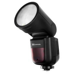 Quadralite Stroboss V1 Flash a testa rotonda per mirroless Sony