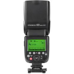 Quadralite Stroboss 60 Evo flash per fotocamere micro quattro terzi + batteria al litio