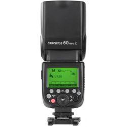 Quadralite Stroboss 60 Evo flash per fotocamere Canon + batteria al litio