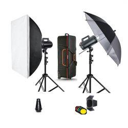 Quadralite Move X 400 Kit 2x flash da studio + 2x stativi + accessori