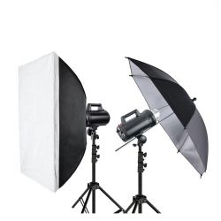 Quadralite Move X 200 Kit 2x flash da studio + 2x stativi