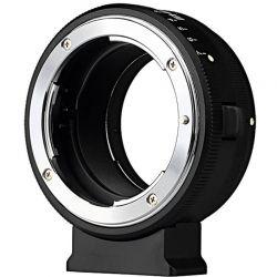 Meike adattatore da obiettivo Nikon F a fotocamera mirrorless Sony E-Mount