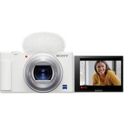 Fotocamera Sony Vlog camera ZV-1 Bianco [MENU ENG]