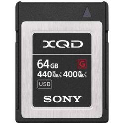 Sony 64GB Scheda Memoria XQD-G64F/J 440mb/s Lettura - 400mb/s Scrittura