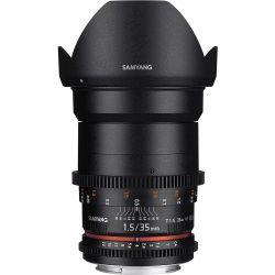 Obiettivo Samyang 35mm T1.5 Cine per fotocamere Canon EF