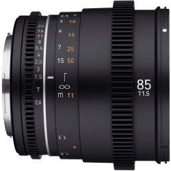 Obiettivo Samyang 85mm T1.5 VDSLR Mark II per reflex Canon EF