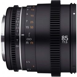 Obiettivo Samyang 85mm T1.5 VDSLR Mark II per mirrorless Sony E-Mount