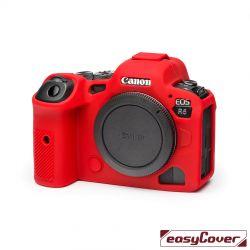 easyCover custodia protettiva in silicone rossa per Canon R5 / R6