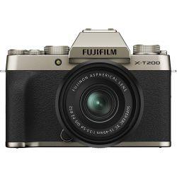 Fotocamera Mirrorless Fujifilm X-T200 Kit 15-45mm Champagne Gold PRONTA CONSEGNA