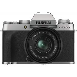 Fotocamera Mirrorless Fujifilm X-T200 Kit 15-45mm Silver PRONTA CONSEGNA