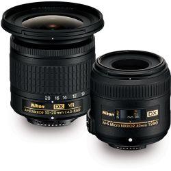 Kit obiettivi Nikon DX Paesaggio 10-20mm f/4.5-5.6 + macro 40mm f/2.8