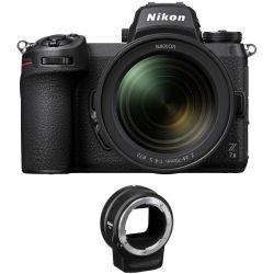 Fotocamera Mirrorless Nikon Z7 Mark II kit 24-70mm F4S + adattatore