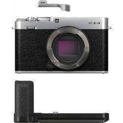 Fotocamera Mirrorless Fujifilm X-E4 body silver + impugnatura MHG-XE4