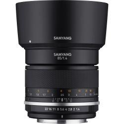 Obiettivo Samyang MF 85mm f/1.4 Mark II attacco Canon EF