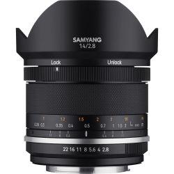 Obiettivo Samyang MF 14mm f/2.8 Mark II attacco Canon EF