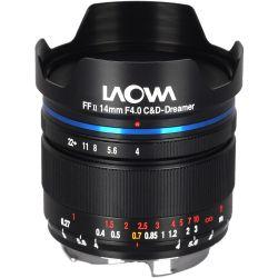 Obiettivo Laowa 14mm f/4 FF RL Zero-D nero per mirrorless Leica M