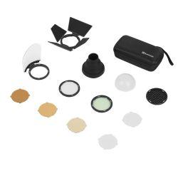 Quadralite Reporter 200 TTL kit accessori per testa flash