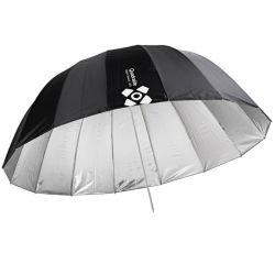 Quadralite Deep Space 130 ombrello parabolico argento e nero