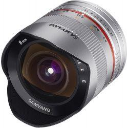 Obiettivo Samyang 8mm f/2.8 Fish-eye CS II silver compatibile Canon EOS M