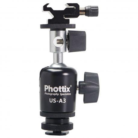 Phottix US-A3 Perno Sostegno Adattatore orientabile x ombrello stativo flash