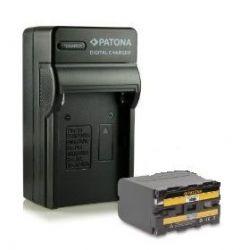Patona kit batteria + caricabatteria compatibile SONY NP-F960 NP-F970
