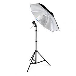FotoQuantum StudioMax Daylight 450 + Ombrello Argento/Nero 110cm