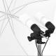 FotoQuantum StudioMax Daylight Kit 900/900W + Ombrelli Argento/Nero 110cm