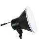FotoQuantum StudioMax Kit Daylight 750/750750W con riflettori + stativi lampada 2.6m