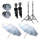 FotoQuantum StudioMax Kit 55/55Ws Sincro Flash FQ-CY3000 + Treppiedi 2m + Ombrelli Traslucidi Bianchi 110cm