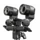 FotoQuantum StudioMax Kit 55W/55W Flash Sincro FQ-CY3000 + Treppiede 2m + Ombrello Traslucido Bianco 110cm