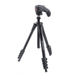 Manfrotto Foto Treppiedi Compact Action nero con testa joystick MKCOMPACTACN-BK