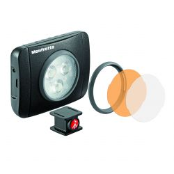 "Manfrotto Lighting Faretto Luce LED LUMIE ""Play"" a 3 LED MLUMIEPL-BK"
