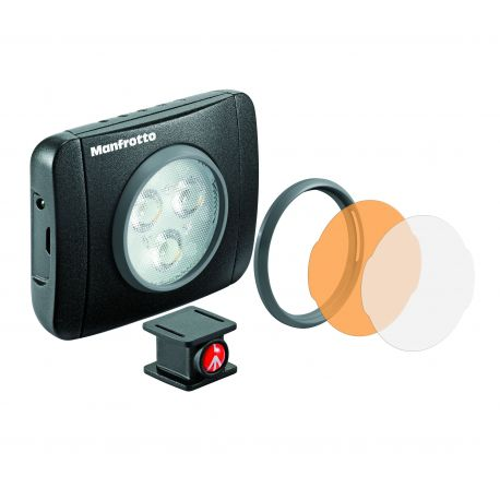 """Manfrotto Lighting Faretto Luce LED LUMIE """"Play"""" a 3 LED MLUMIEPL-BK"""