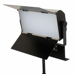 FotoQuantum Kit Luci da Studio FQVL-1100S/1100S LED dimmerabile + Stativi 2.6m e Fondale in Vinile Bianco 2x6m con Supporto