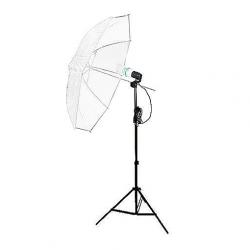 FotoQuantum StudioMax Daylight Kit 450 + Ombrelli Traslucidi Bianchi 110cm
