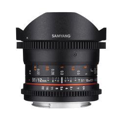 Obiettivo Samyang 12mm T3.1 VDSLR ED AS NCS Fisheye x Micro Quattro Terzi M4/3 Lens