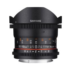 Obiettivo Samyang 12mm T3.1 VDSLR ED AS NCS Fisheye x Sony A-Mount Lens