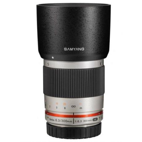 Obiettivo Samyang 300mm f/6.3 ED UMC ES x Micro Quattro Terzi Argento