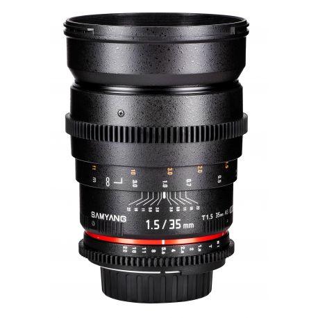 Obiettivo Samyang 35mm T1,5 x Pentax VDSLR Video