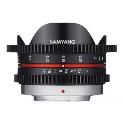 Obiettivo Samyang 7.5mm T3,8 VDSLR UMC Fish-eye x Micro Quattro Terzi Video