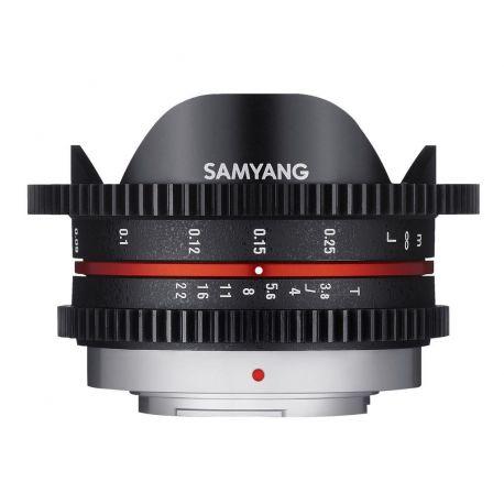 Obiettivo Samyang 7.5mm T3,8 VDSLR UMC Fish-eye x Micro Quattro Terzi Video