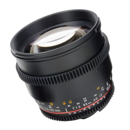 Obiettivo Samyang 85mm T1,5 x Pentax VDSLR Video